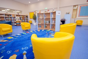 Inside the new Library and Learning Resource Centre at St. Anne's Catholic Primary School - a school of the Diocese of Westminster