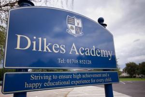 Dilkes Academy Sign