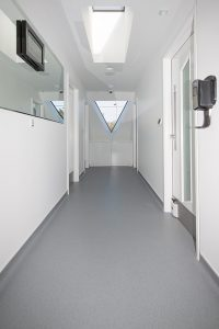 Central corridor to Facemed Cosmetic Surgery between treatment rooms
