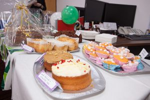 A great display of cakes at Munday + Cramer's Macmillan Coffee Morning