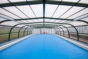 Sutton-at-Hone school swimming pool and enclosure