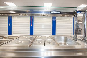 Hassenbrook Academy - Kitchen serving layout