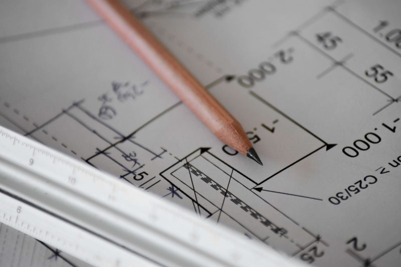 Planning advice forms part of our building surveying services. The picture depicts a graphical plan.