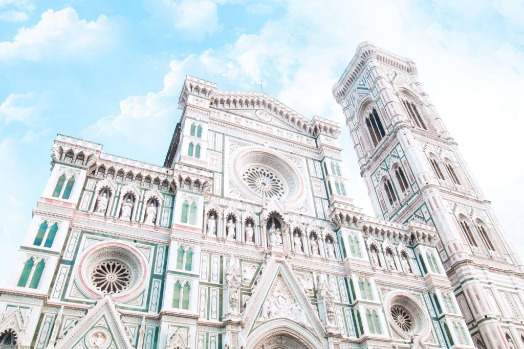 A picture depicting architectural design in Florence - Cattedrale di Santa Maria del Fiore Duomo di Firenze