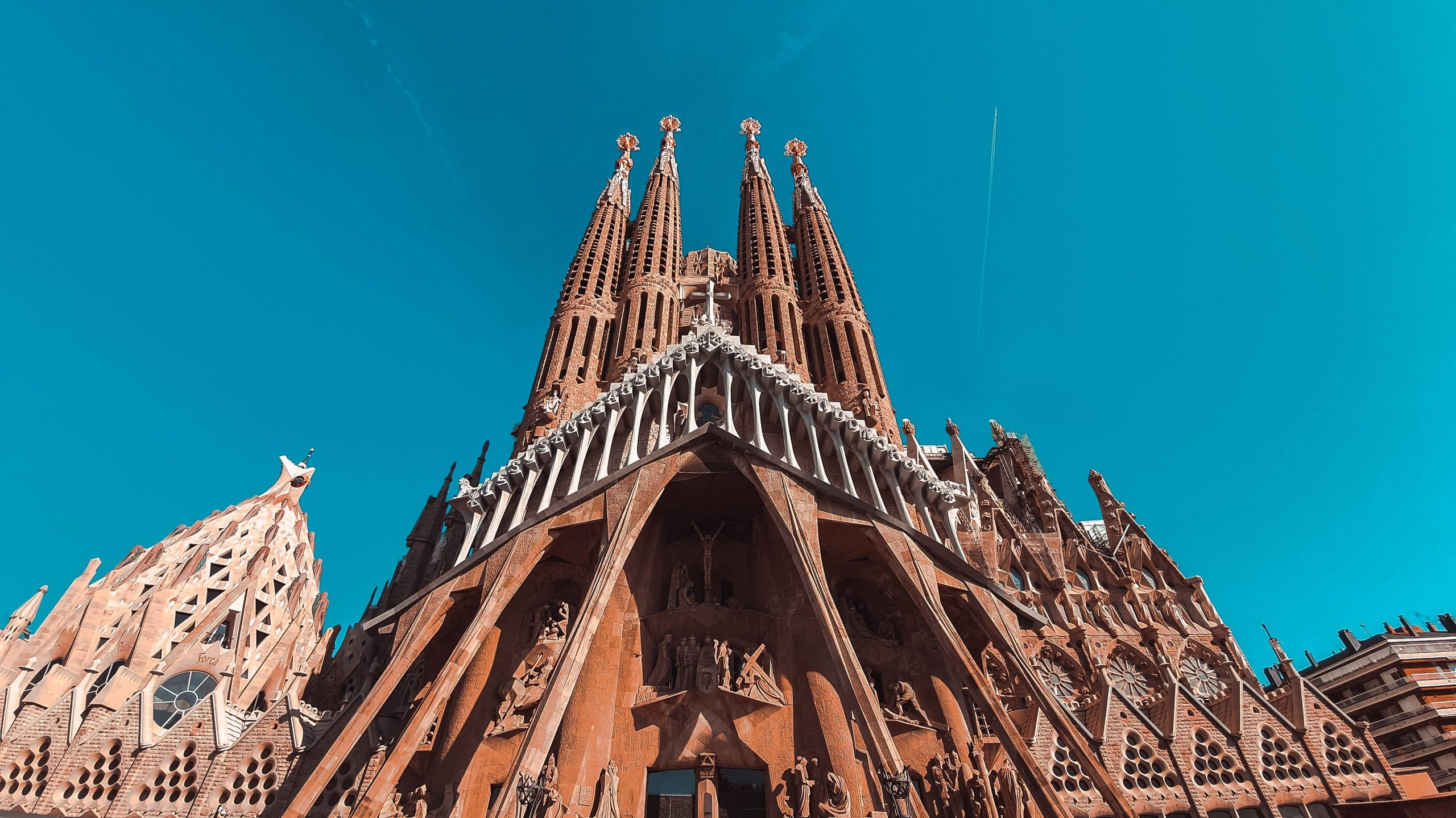 An image of La Sagrada Familia church, in Barcelona.