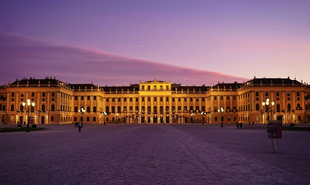 Schönbrunn Palace, in Vienna, is a prime example of Rococo architectural design.