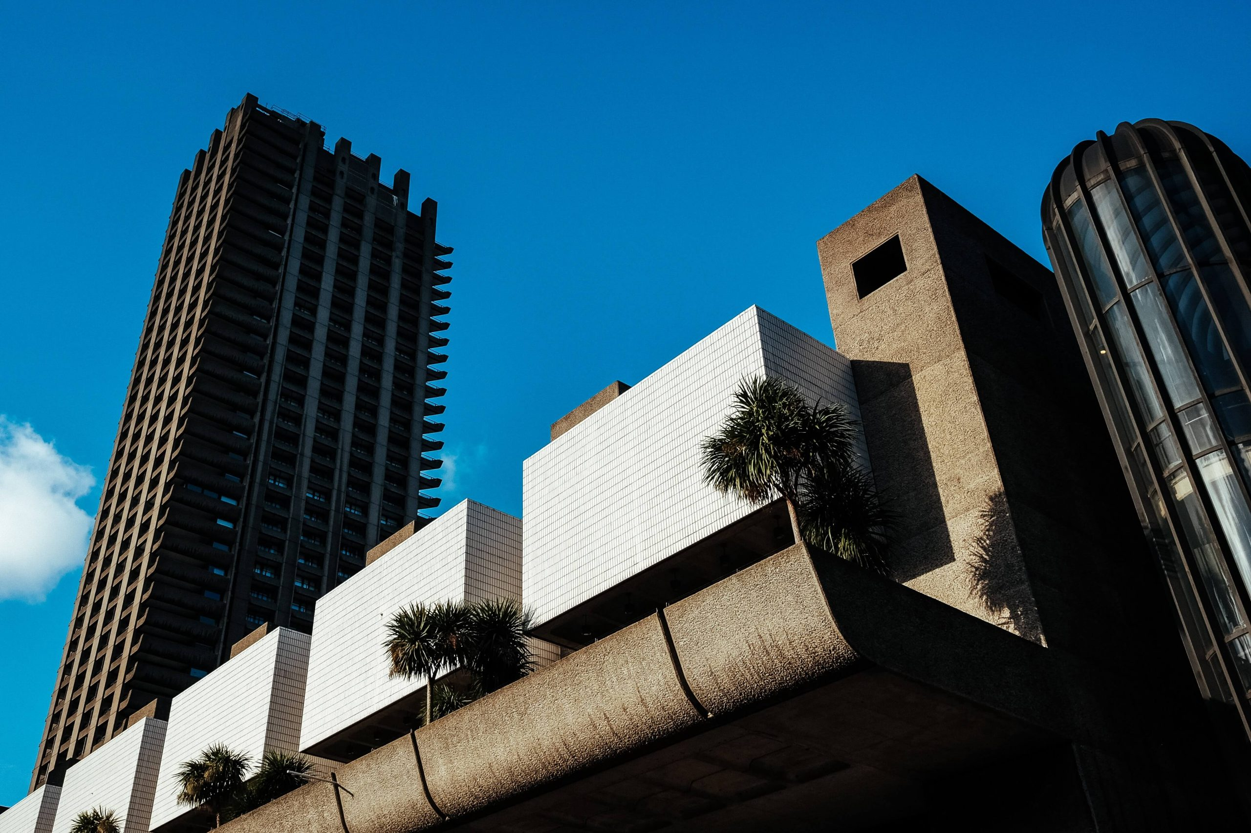 An image of part of the Barbican Centre, London.