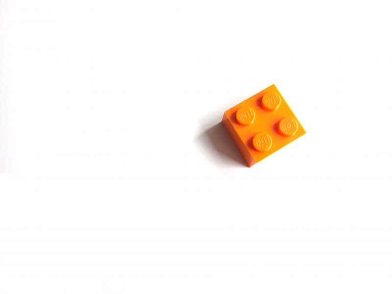 A building block to represent the repeating 'units' used in modular design.