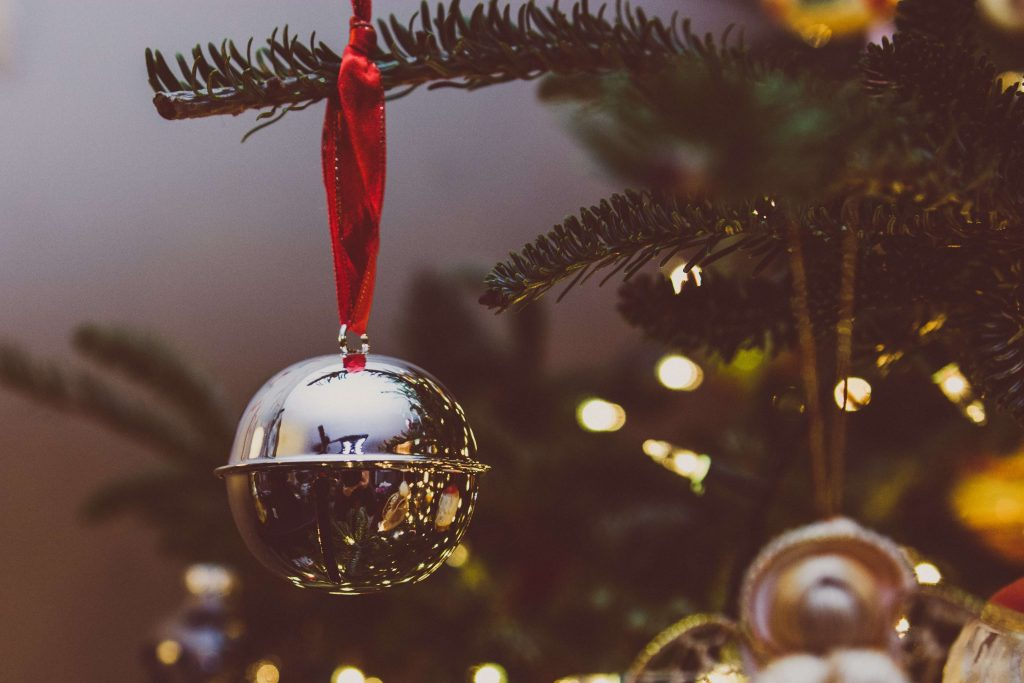 A Christmas bauble to represent our festive architectural almanac.