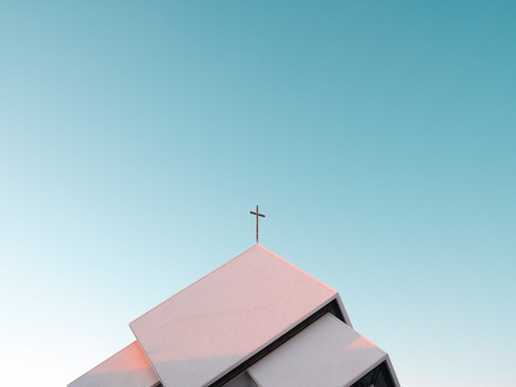 Churches can take many forms such as this modernistic example in Iceland.