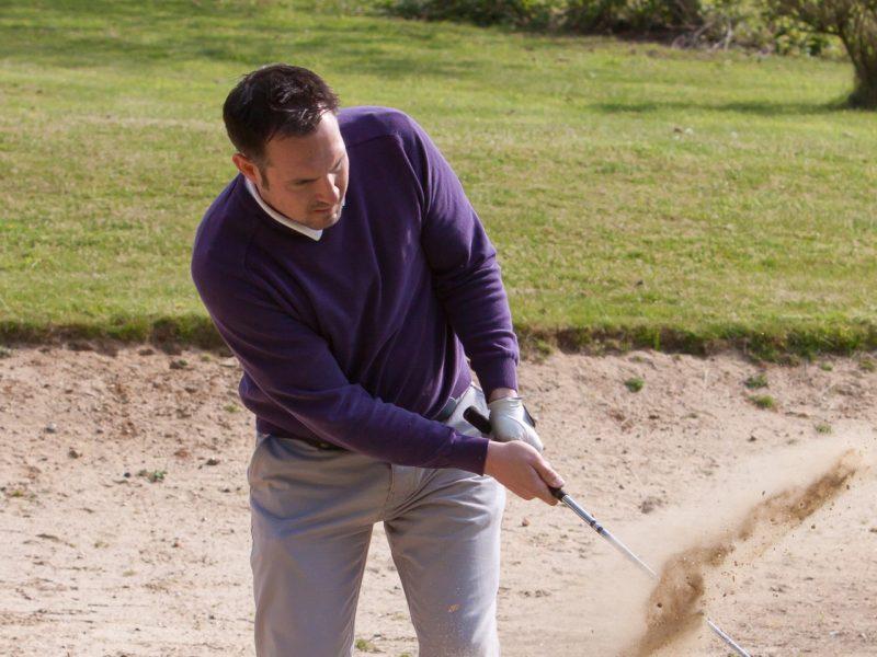 Senior architectural technician John Allum enjoying a round on the golf course!