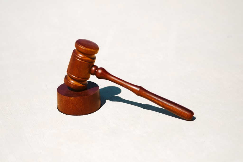 A judge's gavel representing dilapidation claims going to court